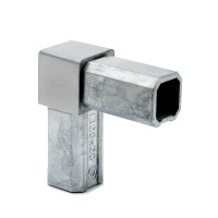 Square tube connector elbow 90° Krystle