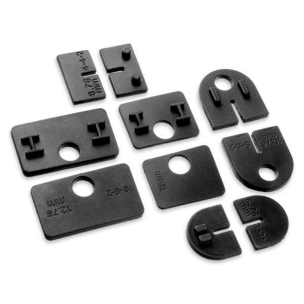 Rubber inlay for glass clamp