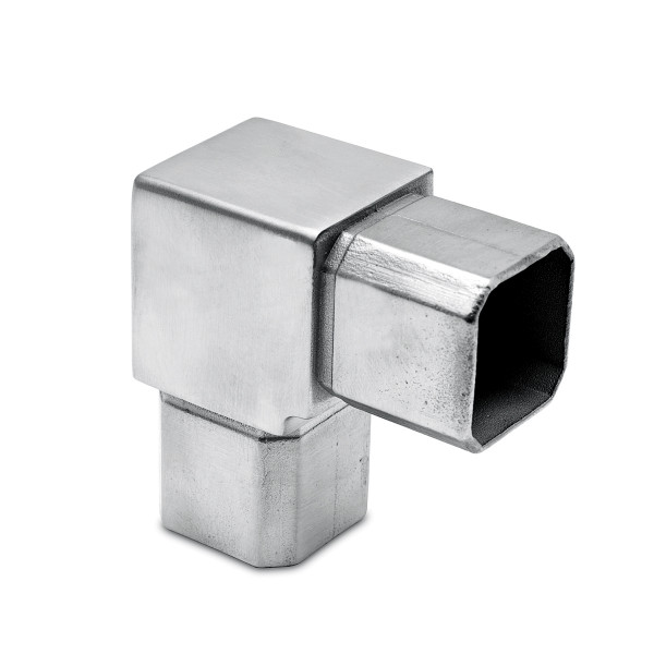 Square tube connector elbow 90°