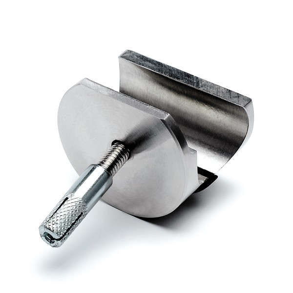 Track holder for wall fixation, Stainless steel design, 46.6111.000.xx