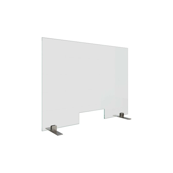 Counter sneeze guard, with cut-out, 20.06xx.000.20
