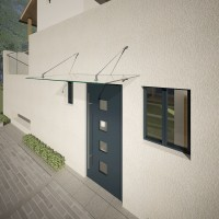 Glass canopy with point holders Dittie