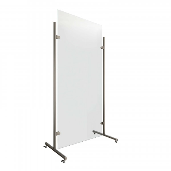 Mobile hygiene partition wall with wheels, 20.8410.038.xx